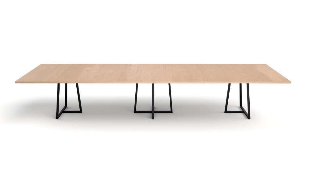 Preview of Two4Six Meeting | Meeting Table | Laminate Top | Black Powdercoat Open Frame Base