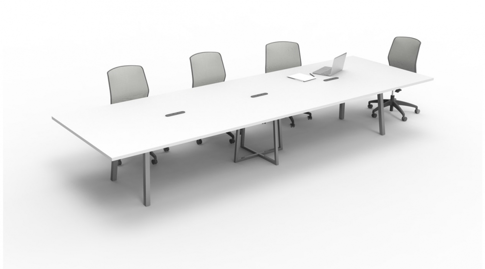 Preview of  Two4Six | Conference Table | Metal Post Legs | Open Frame Center Base