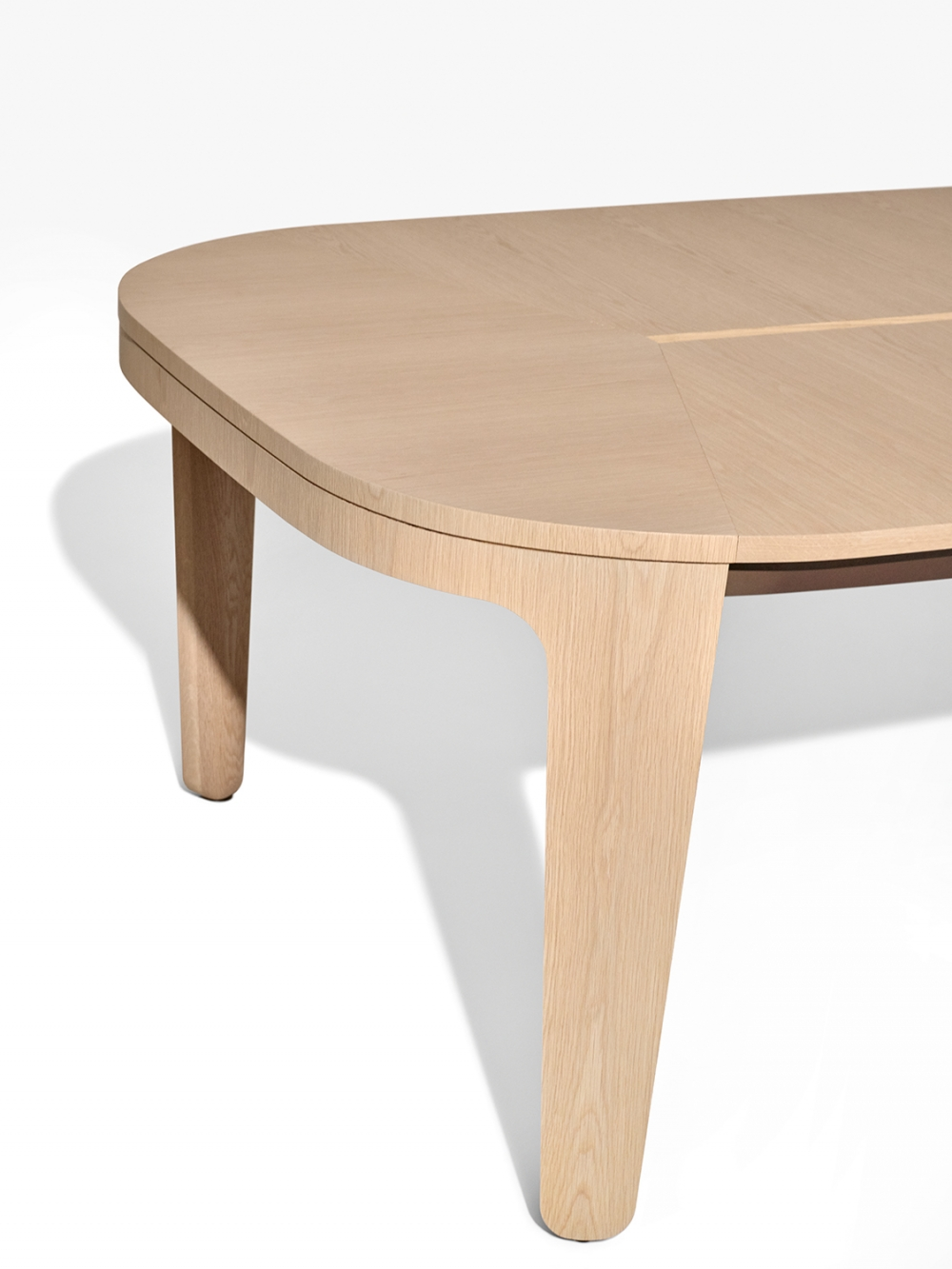 Preview of Alev Meeting | Conference Table | Dune Veneer | Segmented Top | End View