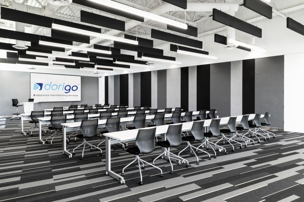 Preview of Fleet | Training Tables | White Laminate Top | Foil Powdercoat C-Leg | Dorigo Systems | Photo: Larry Goldstein