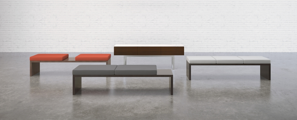 Preview of Emme | Benches | Benches and Door Credenza