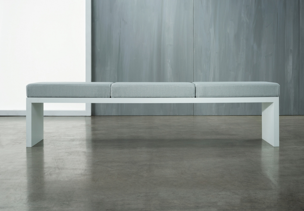 Preview of Emme | Bench | Full  Width Cushion | Cloud Paint
