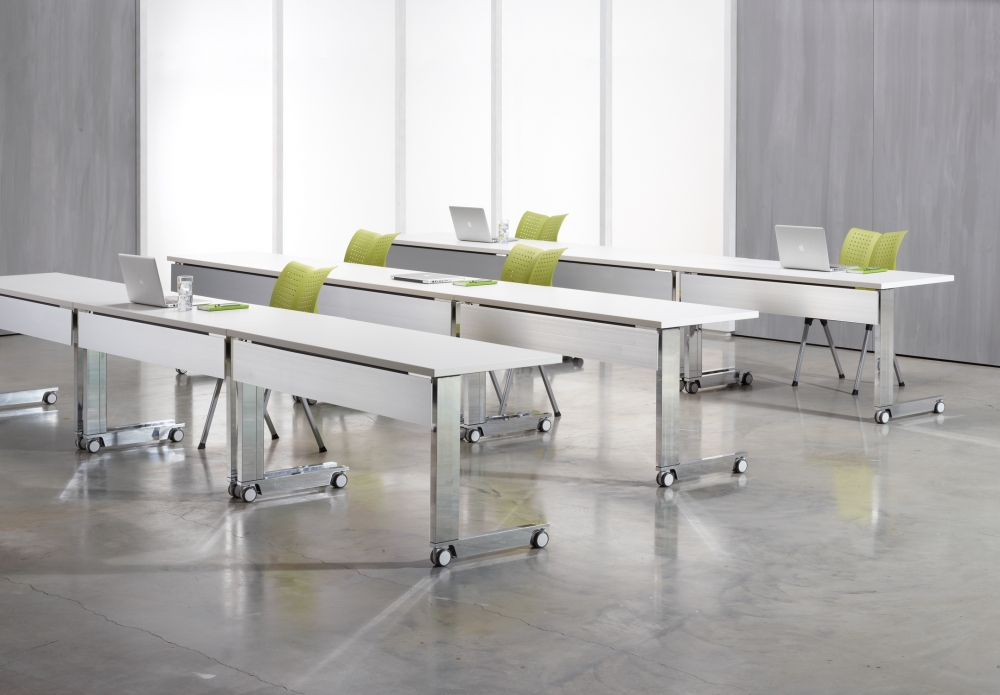 Preview of Fleet |Training Table | C Leg | Metal Modesty | Classroom Configuration