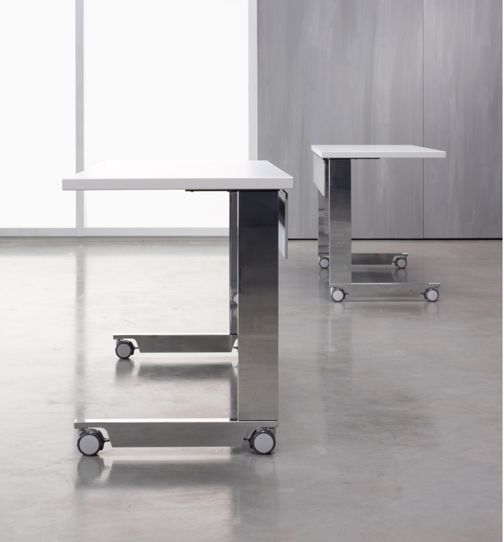Preview of Fleet | Training Table | C Leg | Laminate Top ABS Edge | High Polished Legs