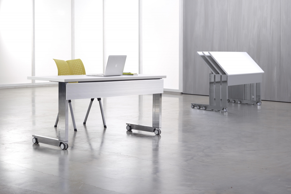 Preview of Fleet | Training Table | C Leg |Metal Modesty | Nesting Tables
