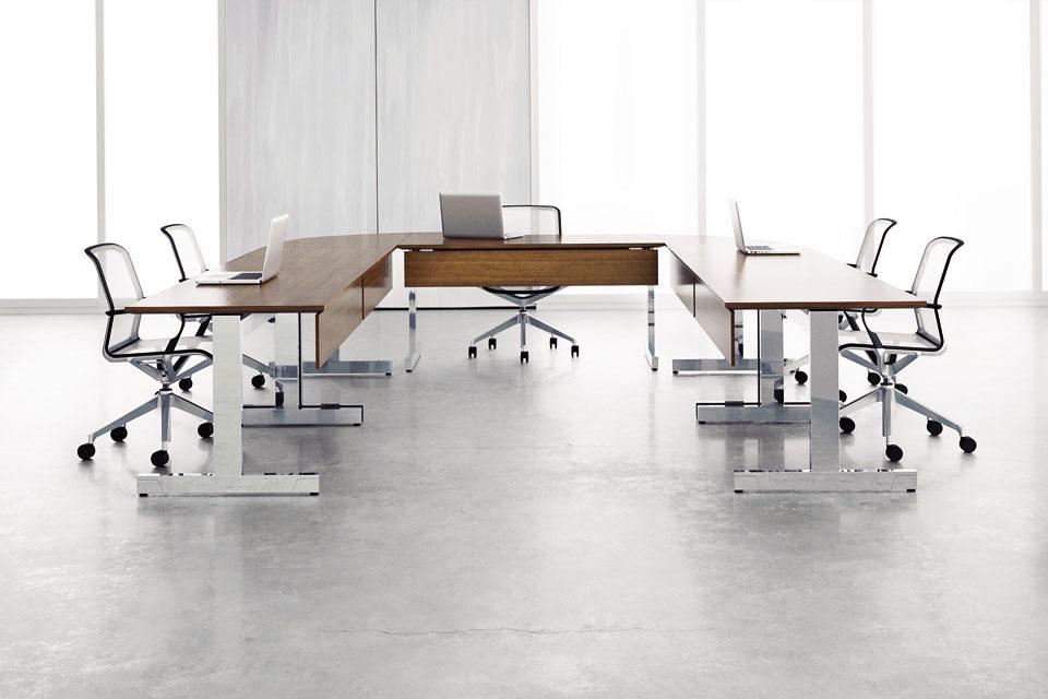 Preview of Fleet | Training Table | T Leg | Veneer Modesty | Veneer Top | U Shape Configuration