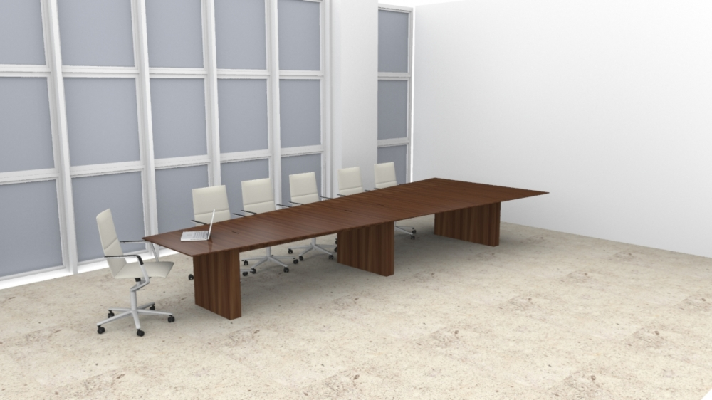 Preview of Flow   Conference Table   Marron Walnut Veneer   Sightline Top Table