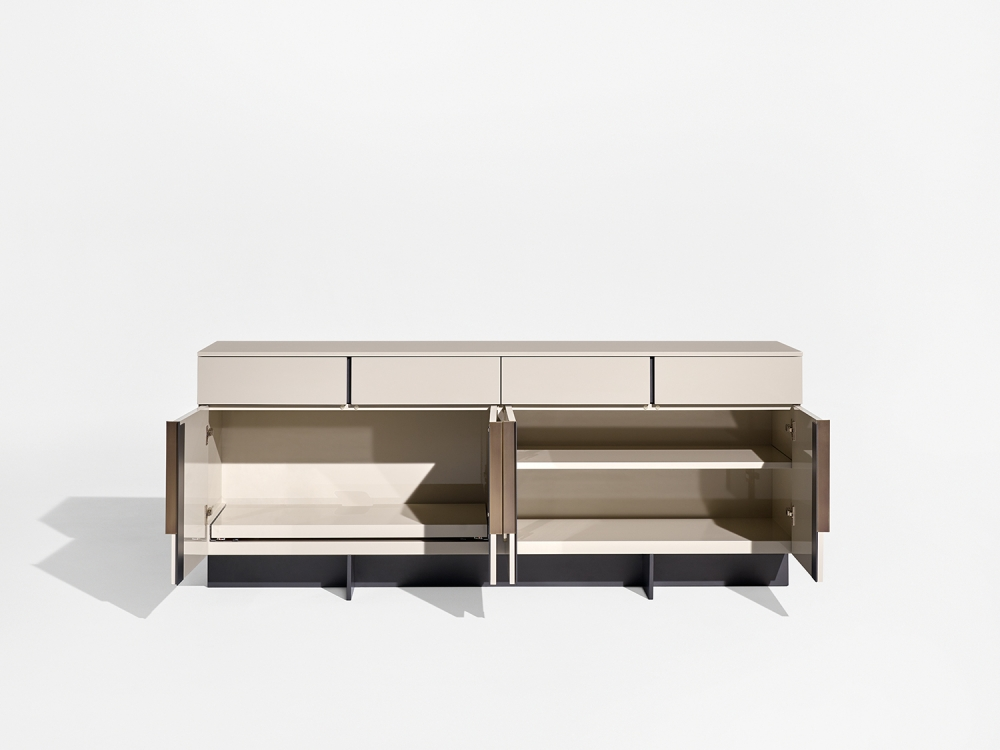 Preview of Forena | Conference Height Credenza | Lacquer Moonlight Case and Top | Storage