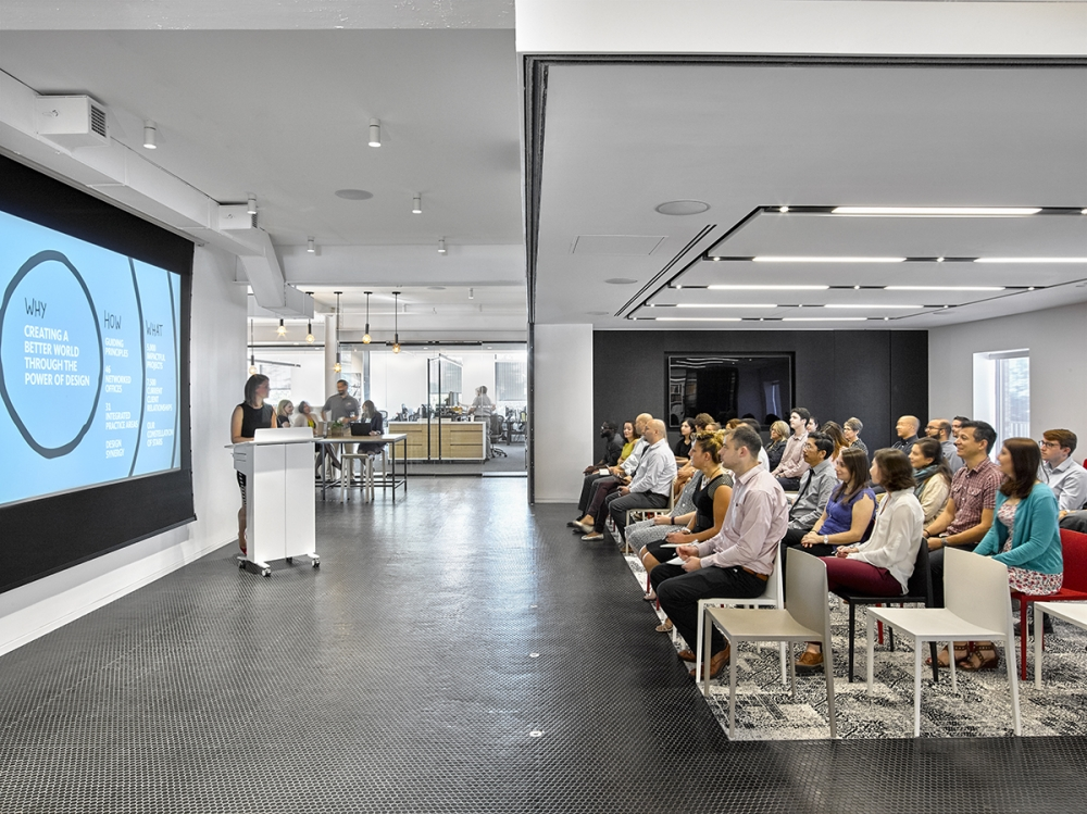 Preview of High Tech Lectern | Column Lectern | Cloud Painted Case | Morristown - Gensler | Photography: Garrett Rowland