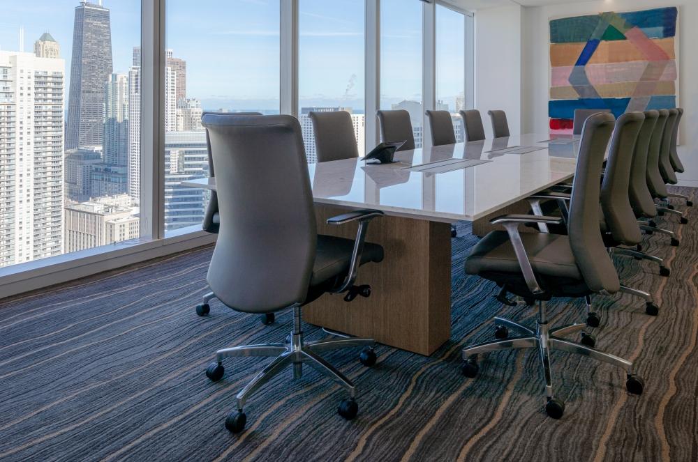 Preview of Flow | Conference Table | Carrara Marble Stone Top | Oak Linea Rectangle Base | KDI Design | SKARZYNSKI MARICK & BLACK