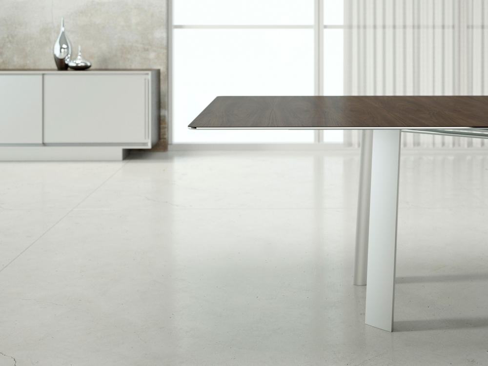 Preview of Kai | Conference Table | Rectangle Veneer Top | Metal Legs | Edge Detail