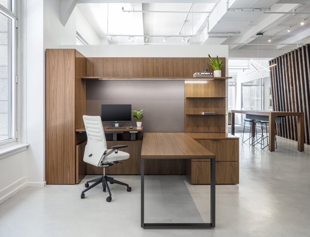 Preview of Cambium   Casegood   Otter Walnut   NYC Showroom