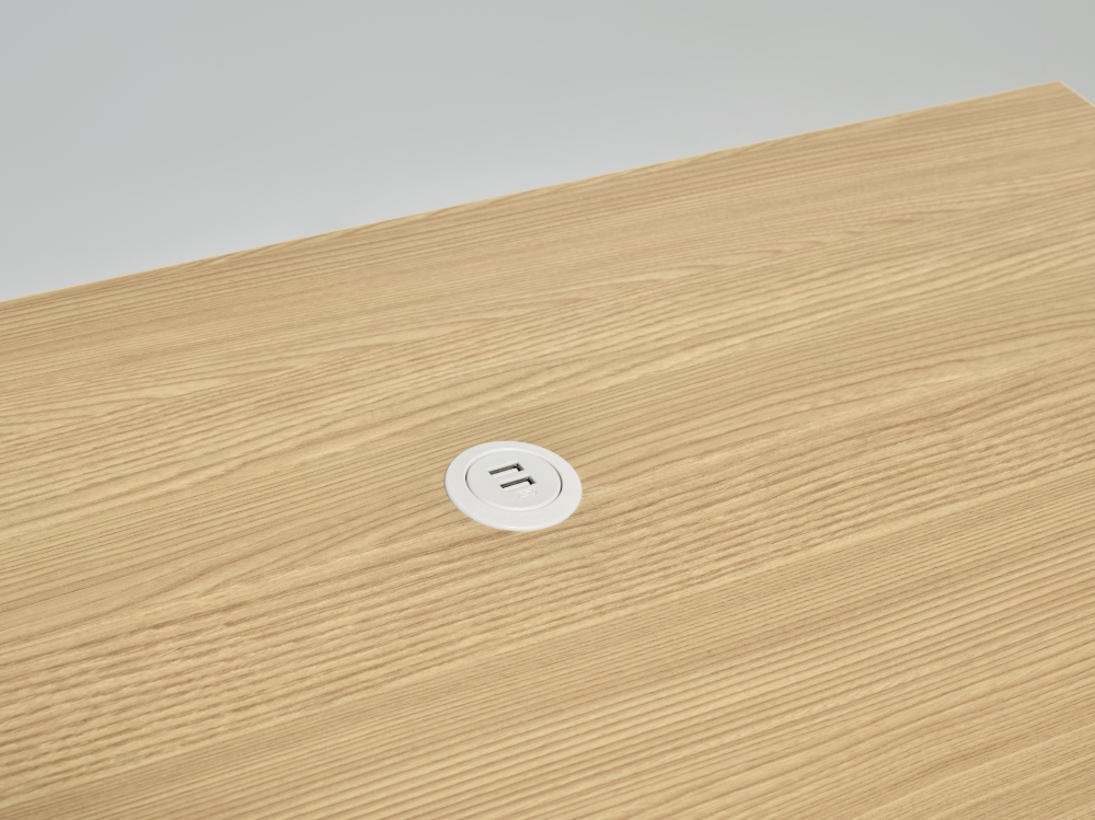 Preview of MYNE IN | Training Table | Natural Ash Laminate Top | USB Power Spec