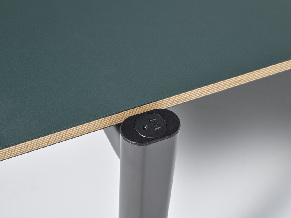 Preview of MYNE Out | Training Table | Conifer Linoleum | Power Cap Simplex Receptacle