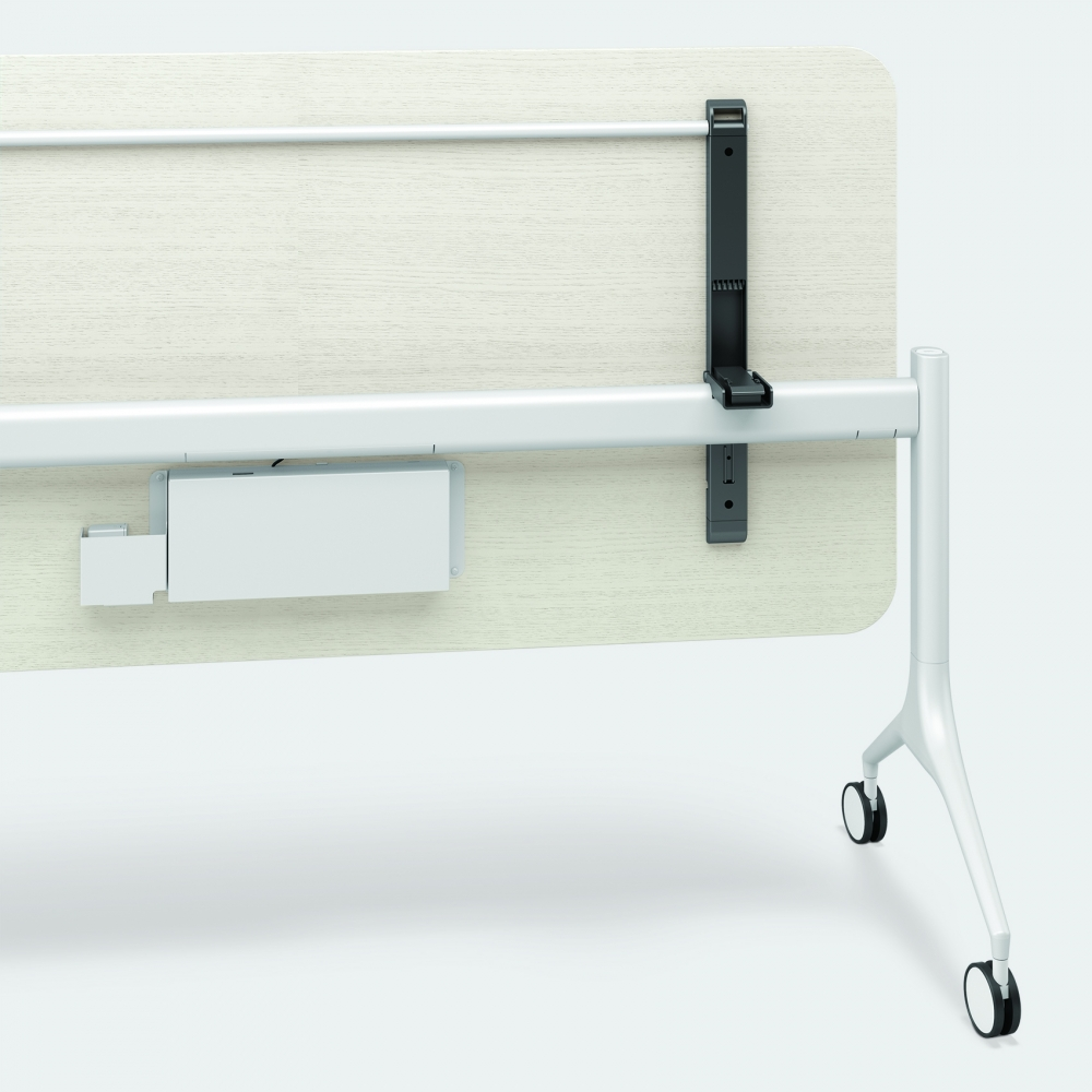 Preview of MYNE Out   Training Table   M44 Blanco Ash Veneer   Cloud Powder Coat Base   Battery Location