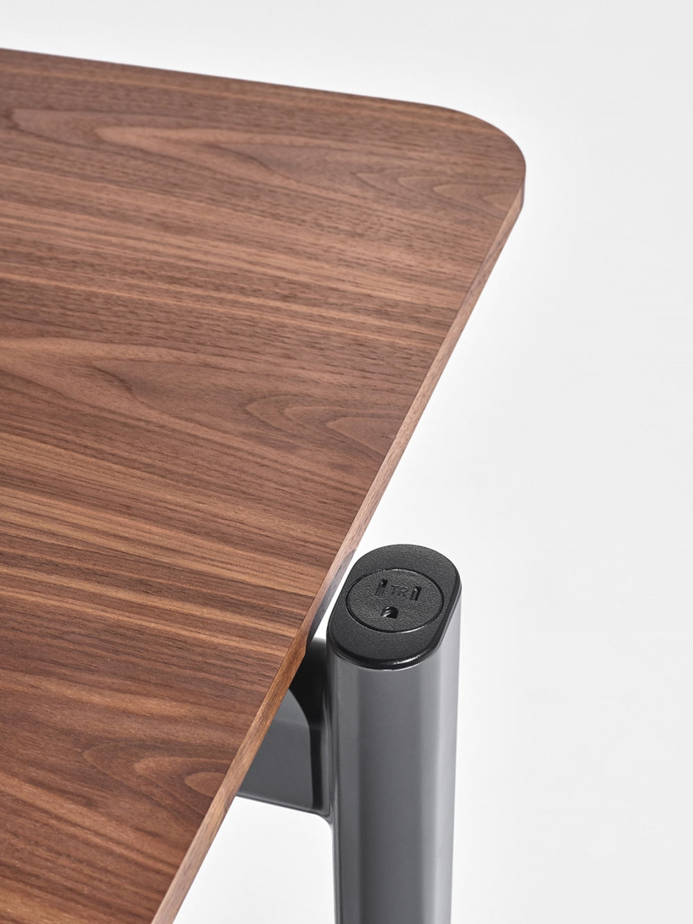 Preview of MYNE Out | Training Table | Walnut Veneer | Power Cap Simplex Receptacle
