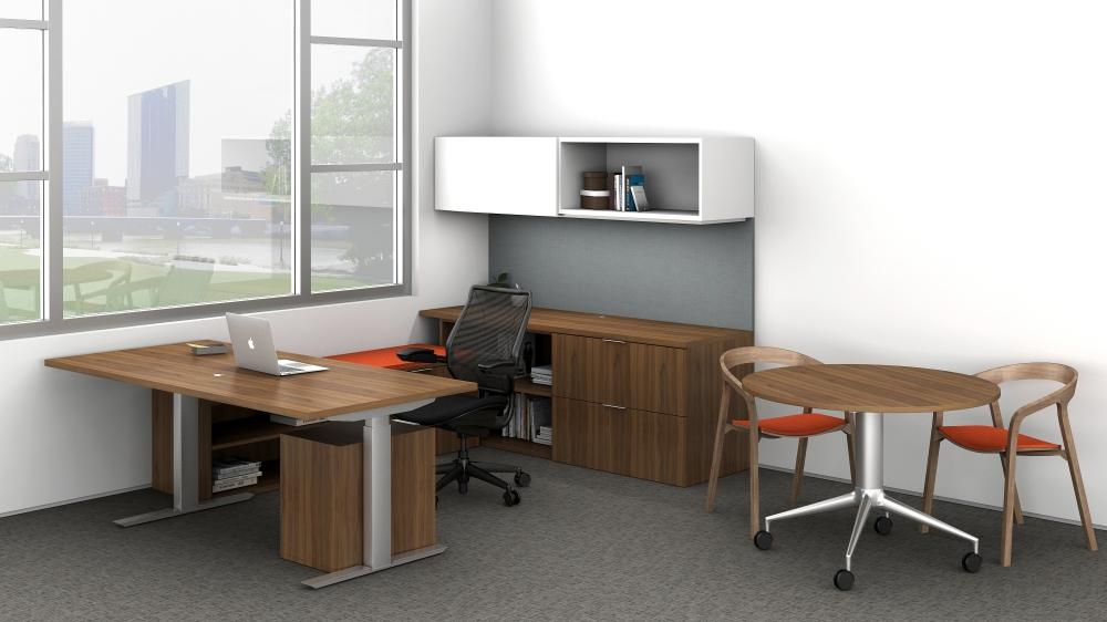 Preview of Cambium | Casegood | Walnut Veneer | Freestanding Desk