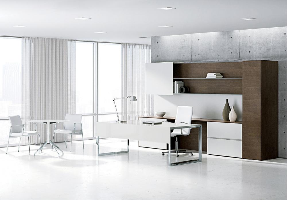 Preview of Merino | Casegood | Freestanding Application | Glass Desk