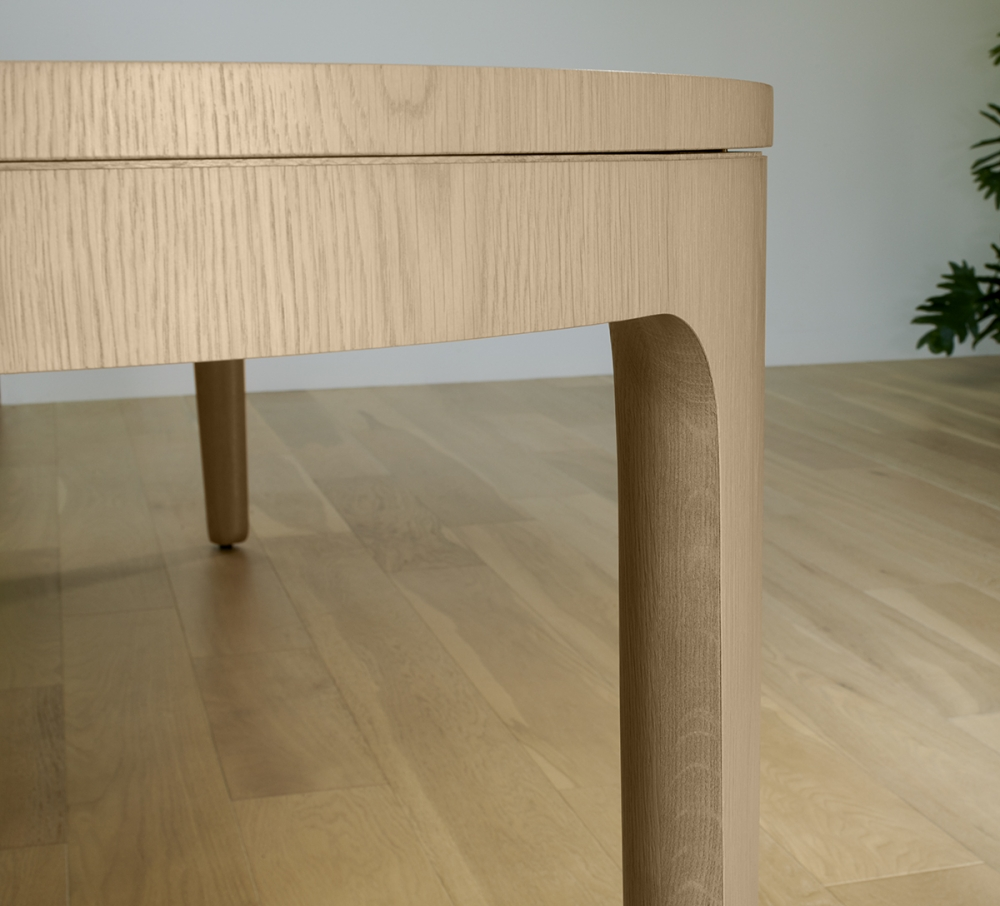 Preview of Alev Meeting | Conference Table | Segmented Top | Dune Veneer | Edge Detail