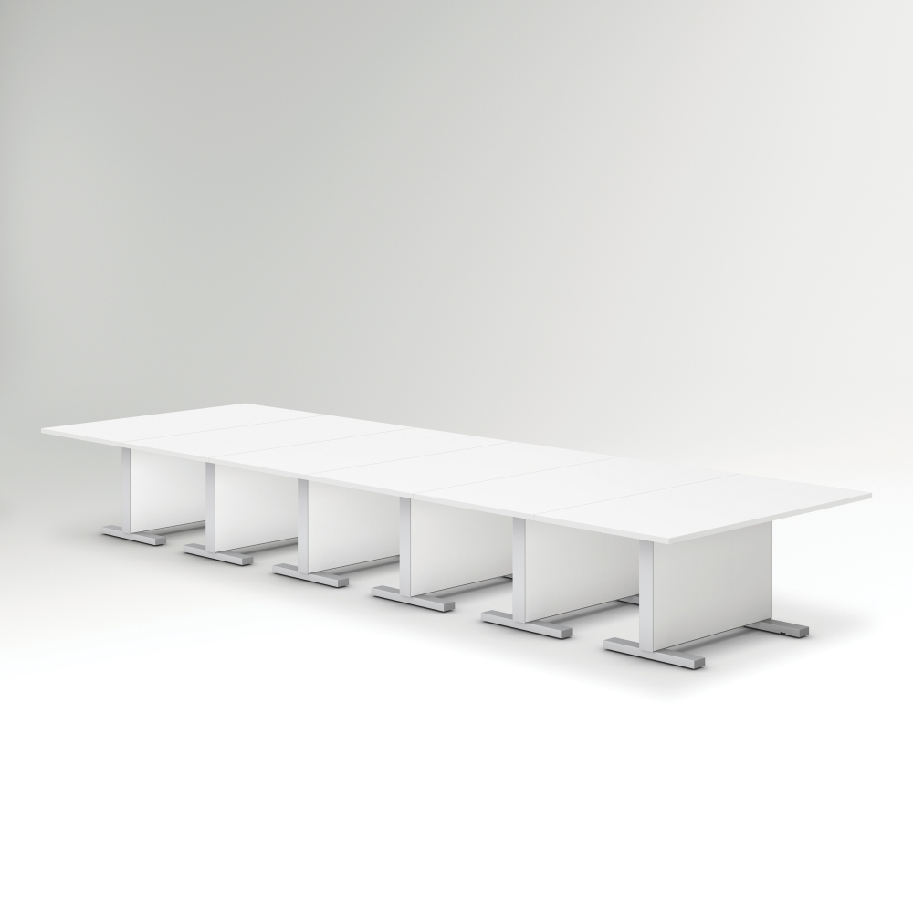 Preview of Approach | Reconfigurable Tables | Bright White Laminate Table | Conference