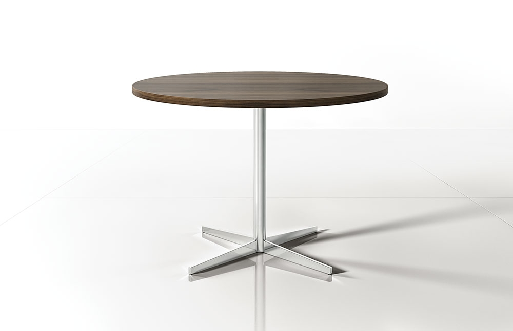 Preview of Cambium | Meeting Table | G31 Walnut Veneer | Polished Chrome Base