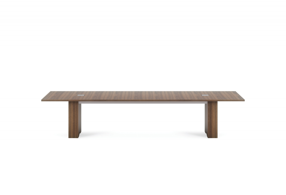 "Preview of Flow | Conference Table | M35 Marron Walnut Veneer 144""  Top 