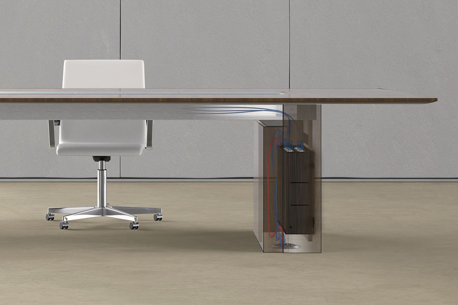 Preview of Flow | Conference Table | Veneer Top | Rectangle Expandable Base | Wire Management
