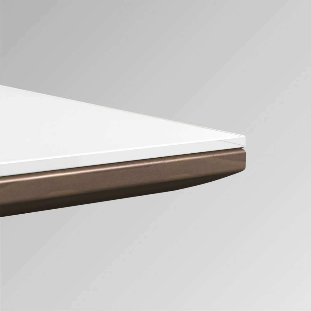 Preview of Flow | Glass Top | Veneer Sub Top | Edge Detail