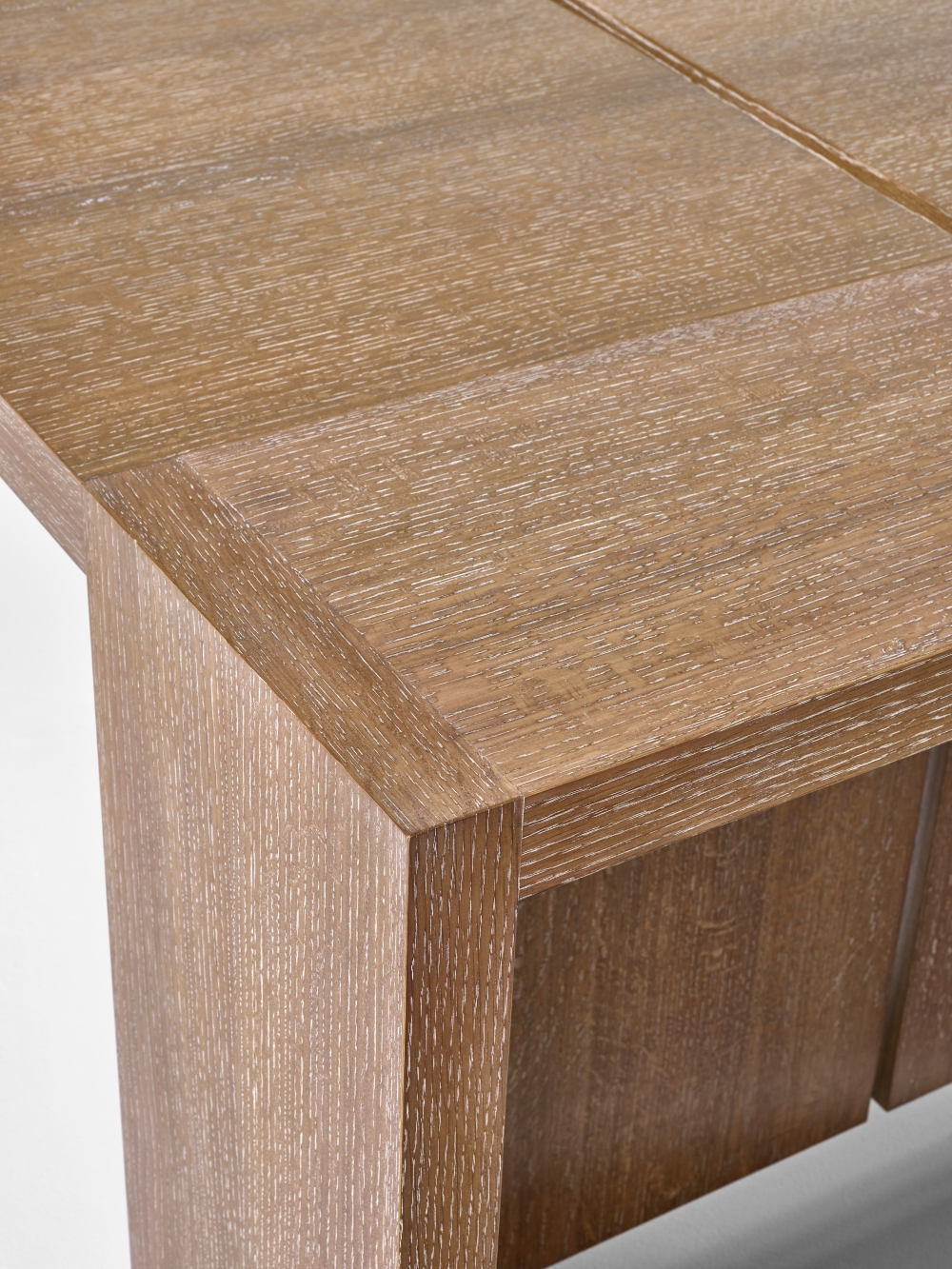Preview of Preston | Community Table | Flaky Oak | End Detail