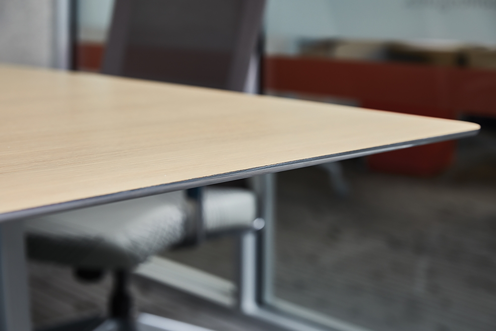 Preview of Kai | Conference Table | M49 Angora Ash Veneer Top | Edge Detail 2