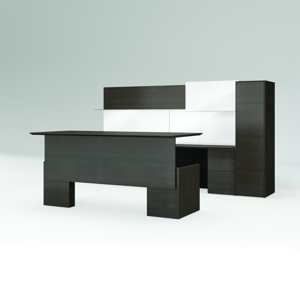 Preview of Merino | Casegood | G30 Zinc Walnut Veneer | Freestanding Application | Adjustable Height Desk | Standing Height