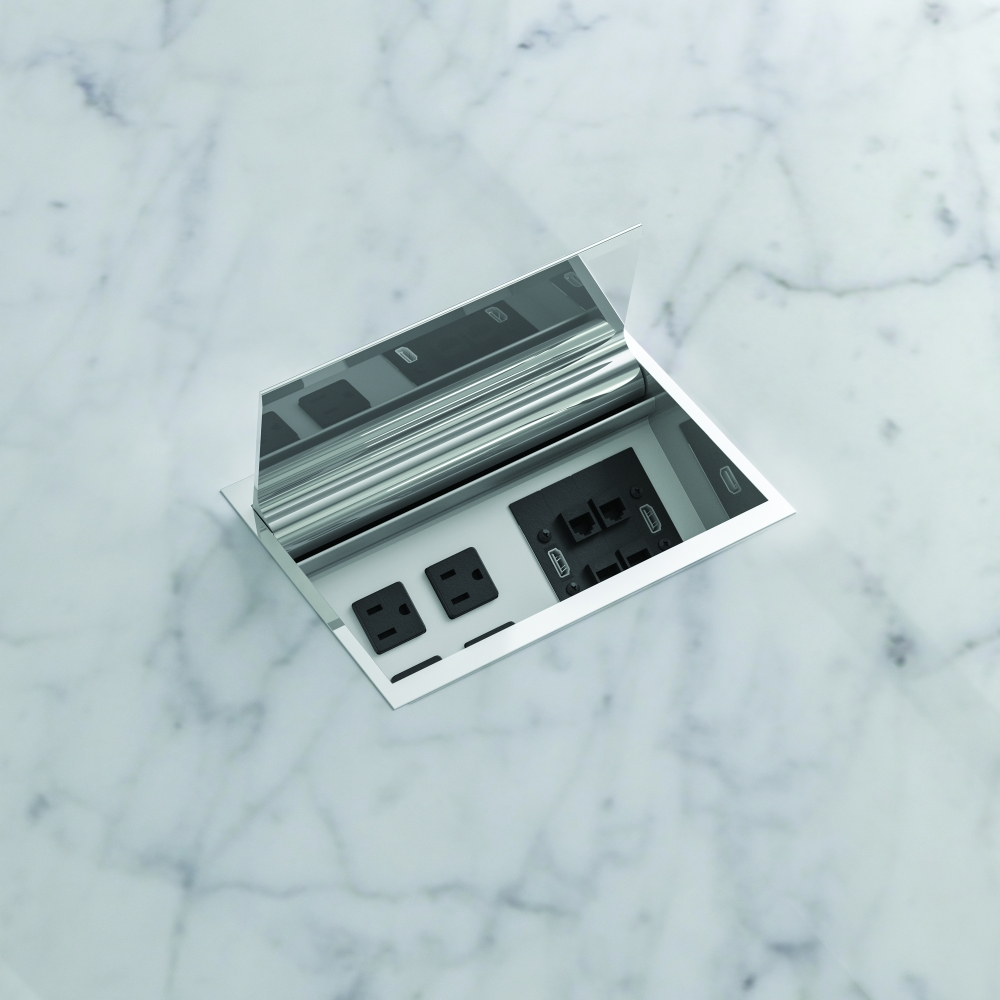 Preview of Power Matrix | Polished Chrome Door | Medium Size | Stone Top Detail