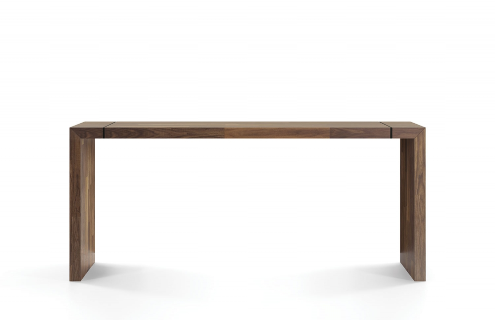 Preview of Tesano | Community Table | Planked Walnut Veneer | Standing Height | Whitesweep