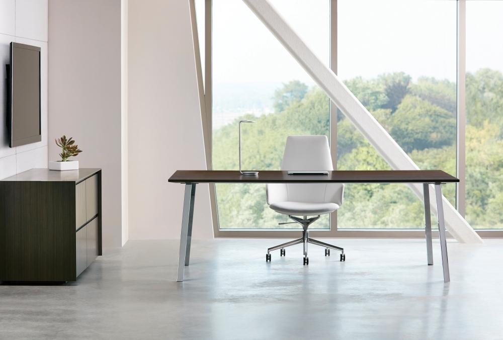 Preview of Two4Six | Meeting Table | Veneer Top | Post Legs
