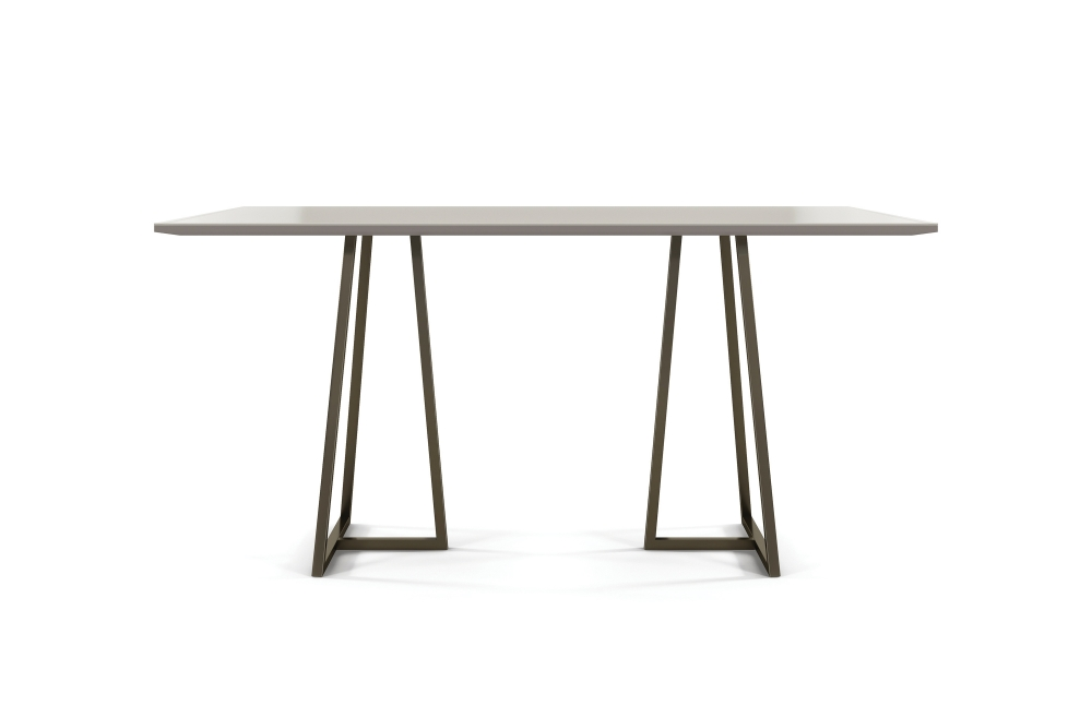 Preview of Two 4 Six | Meeting Table | Rectangle Laminate Top | Storm Powdercoat Open Frame Base | Standing Height
