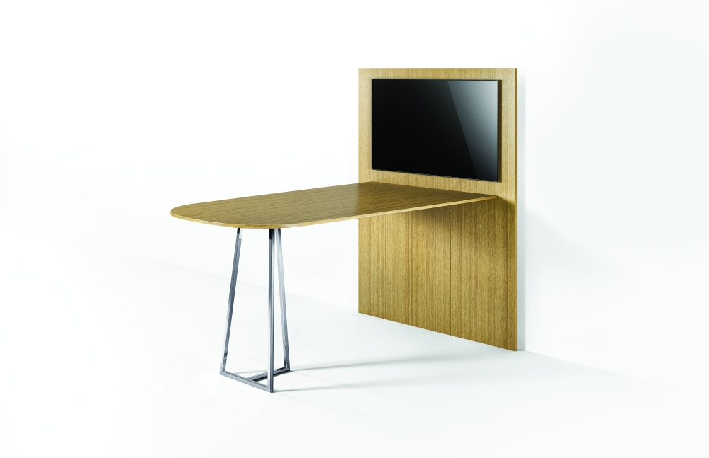 Preview of Two 4 Six | Veneer | Standing Height Media Table