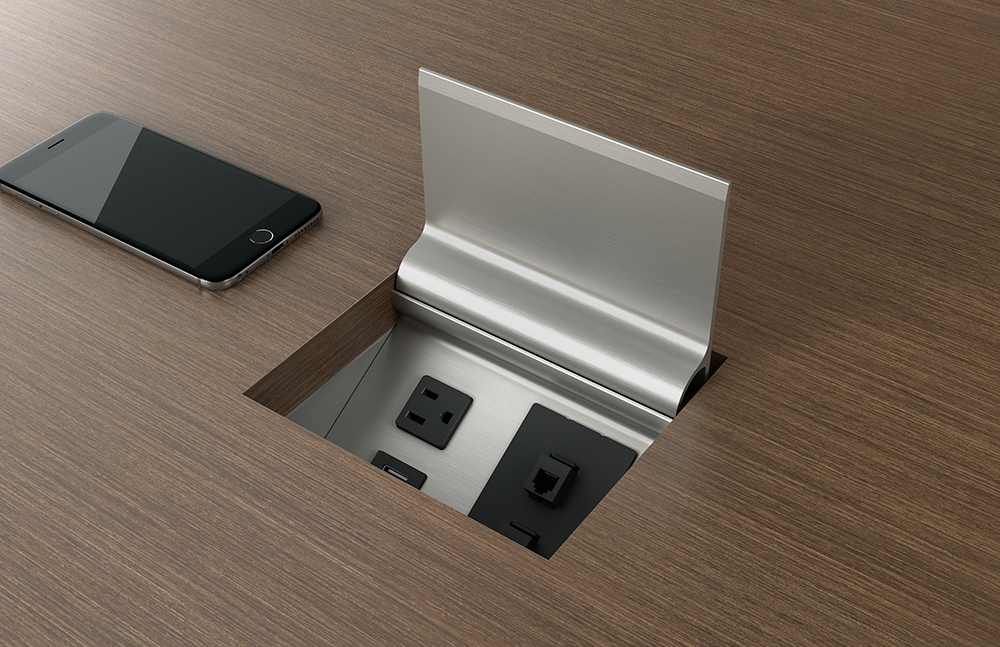 Preview of Power Matrix | M27 Walnut Linea Veneer | Clear Anodized Door | Small Size