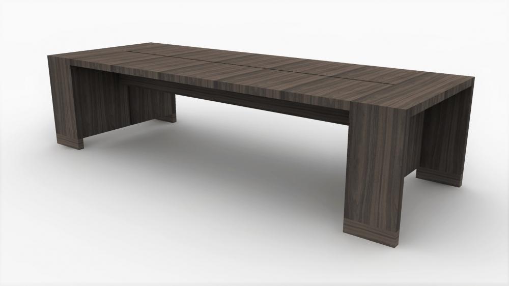 Preview of Preston | Community Table | Walnut Veneer | Seated Height | Rendering