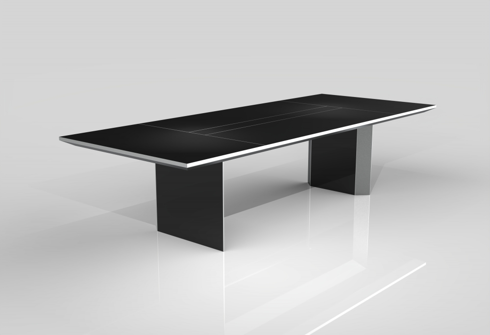 Preview of Tavola | Conference Table | Black Glass Top