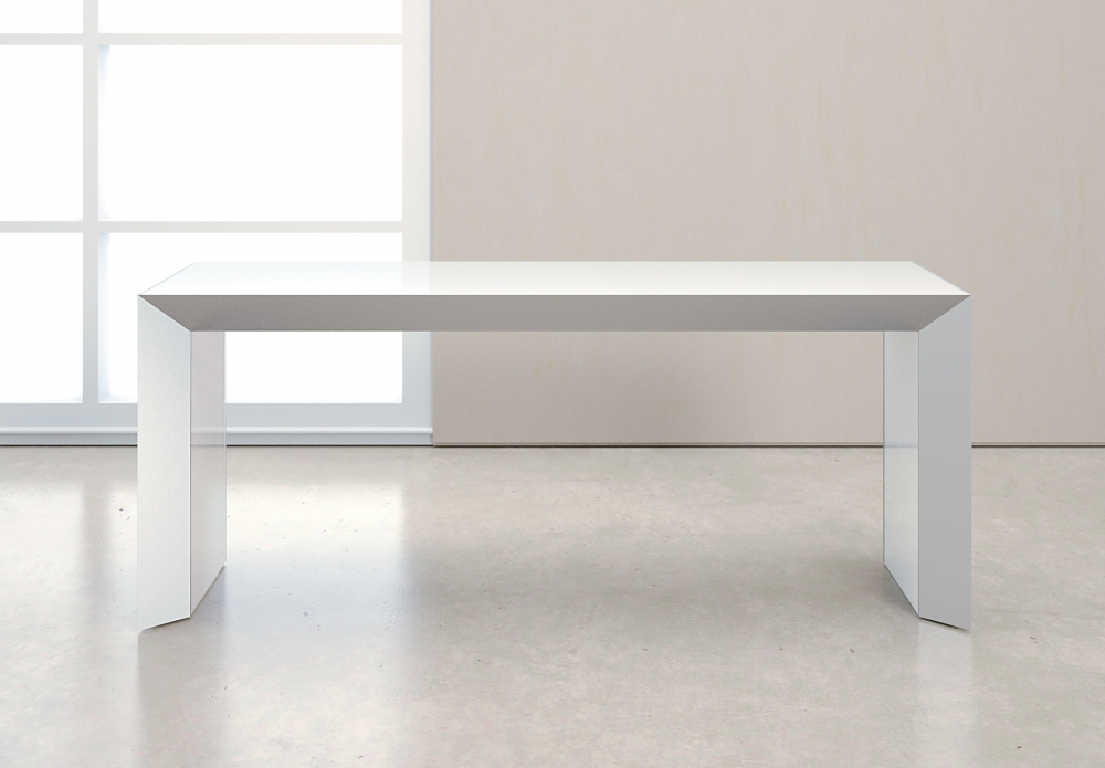 Preview of Tavola | Console | White Glass Top