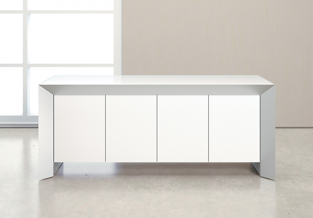 Preview of Tavola | Credenza | White Glass Door