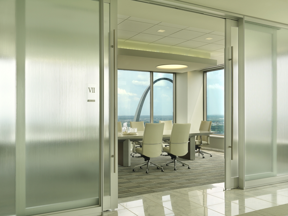 Preview of Tavola   Conference Table   White Glass Rectangle Top   Veneer Base