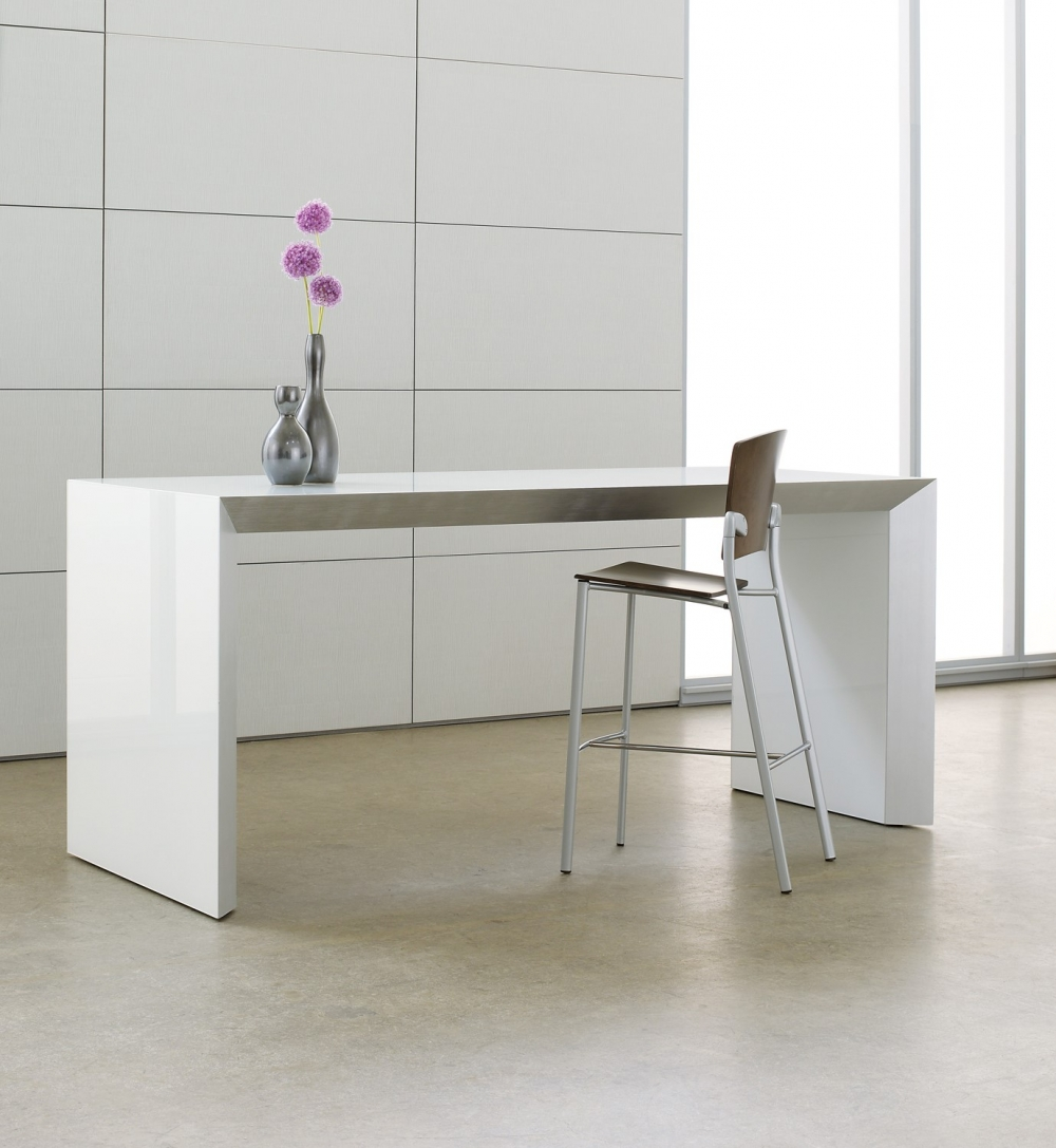 Preview of Tavola | Conference Table | Standing Height | White Glass Top