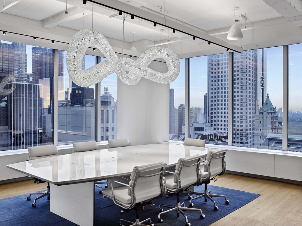 Preview of Tavola | Conference Table | White Glass Top | Swarovski Headquarters NYC