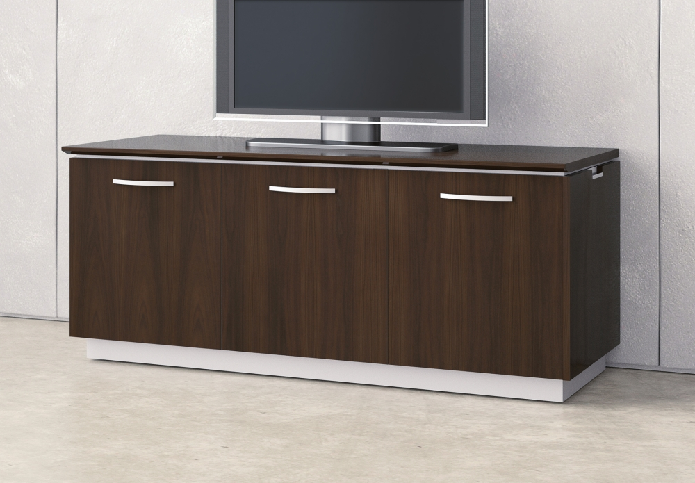 Preview of Performance Credenza | Utility Credenza | M26 Walnut Veneer | Technology