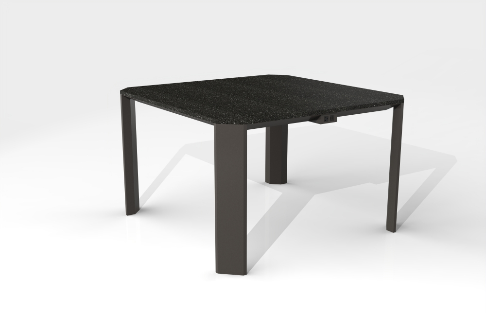 Preview of Tova | Meeting Table | COM Solid Surface Top | Storm Powdercoat Base
