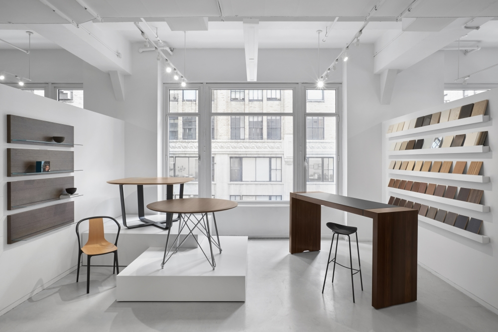 Preview of Baja | Meeting Table | Wire Frame and Hoop Base | New York Showroom