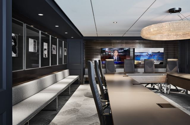 Agility | Training Tables | Walnut Veneer Top | U Shape | Chicago Tribune | © Hall+Merrick Photographers