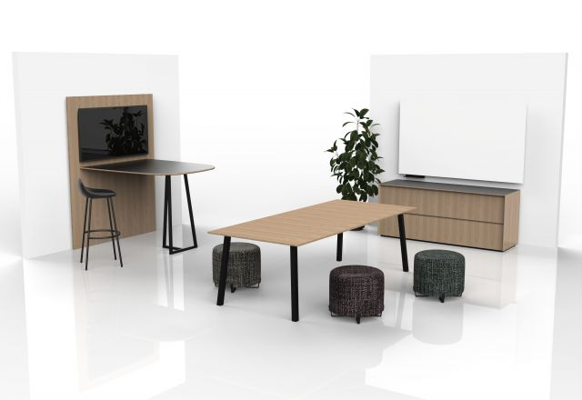 Two4Six Meeting | Media Table, Meeting Table and Marker Board | Dune Veneer