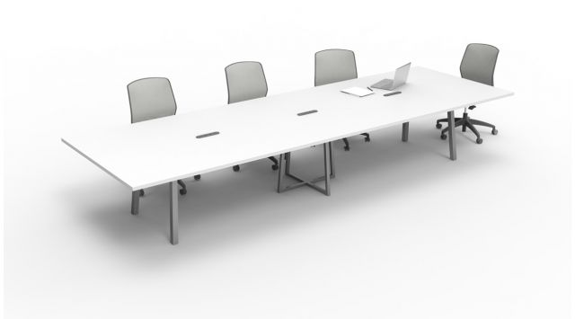 Two4Six | Conference Table | Metal Post Legs | Open Frame Center Base